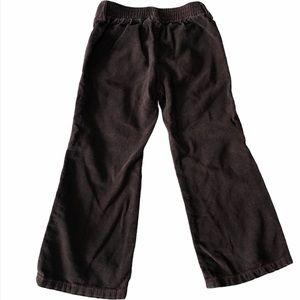 Please Mum brown corduroy pant w/pink stitch 3T